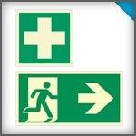 Rettungszeichen-nachleuchtend