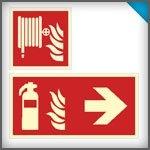 Brandschutz-nachleuchtend