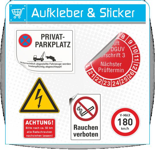 Aufkleber und Sticker