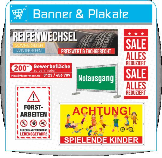 Banner und Plakate