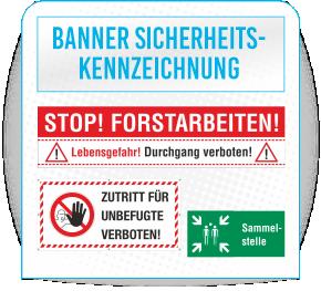 Banner Sicherheitskennzeichnung