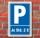 Schild Parken, Parkplatz, Je Std. 2 €, 3 mm Alu-Verbund