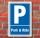 Schild Parken, Parkplatz, Park & Ride, 3 mm Alu-Verbund