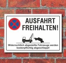 Schild Parkverbot, Halteverbot, Ausfahrt freihalten, 3 mm...