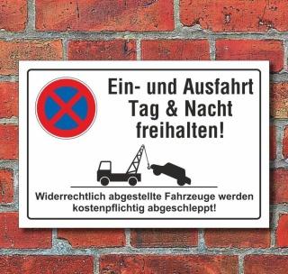 Schild Parkverbot Halteverbot Ein Und Ausfahrt Freihalten 3 Mm