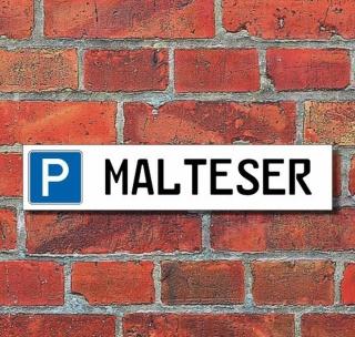 """Schild Parkplatz """"Malteser"""" - 3 mm Alu-Verbund - 52 x 11 cm"""
