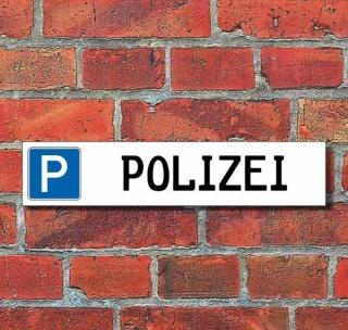 """Schild Parkplatz """"Polizei"""" - 3 mm Alu-Verbund - 52 x 11 cm"""