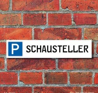 """Schild Parkplatz """"Schausteller"""" - 3 mm Alu-Verbund - 52 x 11 cm"""