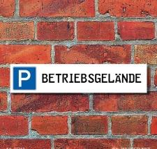 """Schild Parkplatz """"Betriebsgelände"""" - 3 mm..."""
