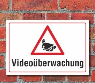Schild Videoüberwachung, 3 mm Alu-Verbund