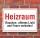 Schild Heizraum - Rauchen, offenes Licht und Feuer verboten, 3 mm Alu-Verbund