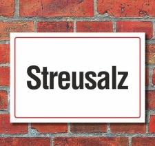 Schild Streusalz, 3 mm Alu-Verbund