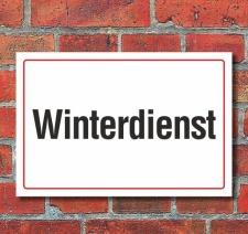 Schild Winterdienst, 3 mm Alu-Verbund