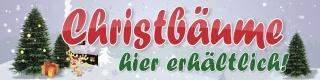 """Werbebanner, Christbaum, Tannenbaum,  Weihnachtsbaum, Plane """"Christbäume"""" mit Ösen"""