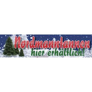 """Werbebanner, Christbaum, Tannenbaum,  Weihnachtsbaum, Plane """"Nordmanntannen"""" mit Ösen"""