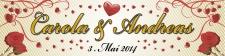 Hochzeitsbanner, Hochzeitsplane, Heirat, Dekoration mit...