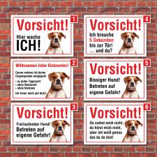 """Vorsicht """"Hier wache ich"""", Boxer, Hund, Schild,..."""