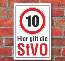 Schild 10, StVO, 3 mm Alu-Verbund Motiv 1 300 x 200 mm