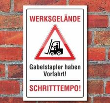 Schild Werksgelände, 3 mm Alu-Verbund Motiv 1 300 x...