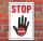 Schild STOP, 3 mm Alu-Verbund