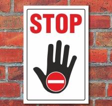 Schild STOP, 3 mm Alu-Verbund Motiv 1 300 x 200 mm