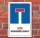 Schild Keine Wendemöglichkeit, 3 mm Alu-Verbund