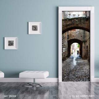 """Türtapete """"Kleine Gasse"""", Türposter, selbstklebend 2050 x 880 mm"""