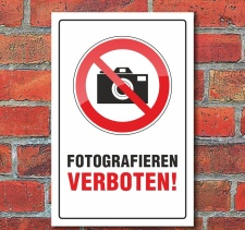 "Schild ""Fotografieren verboten"", 3 mm..."