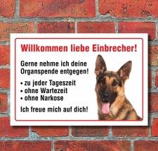 """Vorsicht """"Willkommen"""", Schäferhund, Hund,..."""