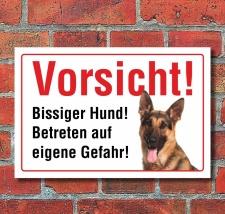 """Vorsicht """"Bissig"""", Schäferhund, Hund,..."""
