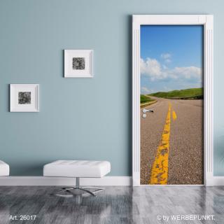 "Türtapete ""Straße"", Türposter, selbstklebend 2050 x 880 mm"