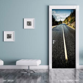 "Türtapete ""Landstraße"", Türposter, selbstklebend 2050 x 880 mm"