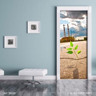 """Türtapete """"Kleine Pflanze"""", Türposter, selbstklebend 2050 x 880 mm"""
