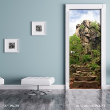 "Türtapete ""Steintreppe"", Türposter, selbstklebend 2050 x 880 mm"