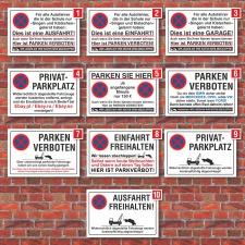 Verschiedene Parkplatzschilder, Hinweis, Verbot, 3 mm...
