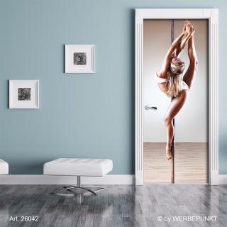 "Türtapete ""Poledancer"", Türposter, selbstklebend 2050 x 880 mm"