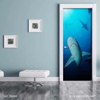"Türtapete ""Hai"", Türposter, selbstklebend 2050 x 880 mm"