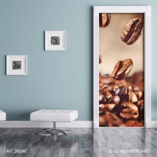 "Türtapete ""Kaffeebohnen"", Türposter, selbstklebend 2050 x 880 mm"
