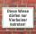 """Schild """"Diese Wiese dürfen nur Vierbeiner benutzen"""", 3 mm Alu-Verbund"""