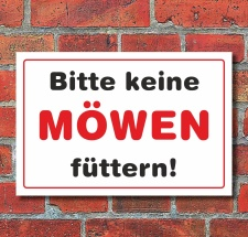 """Schild """"Bitte keine Möwen füttern"""", 3..."""