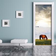 """Türtapete """"Pferd auf der Weide"""", Türposter, selbstklebend 2050 x 880 mm"""