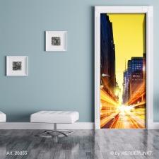 "Türtapete ""Citylights"", Türposter, selbstklebend 2050 x 880 mm"