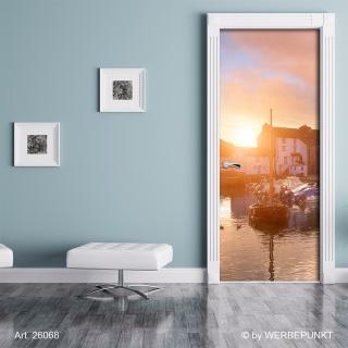 "Türtapete ""Segelboot"", Türposter, selbstklebend 2050 x 880 mm"