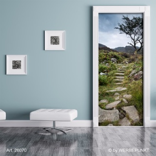 "Türtapete ""Steinpfad"", Türposter, selbstklebend 2050 x 880 mm"