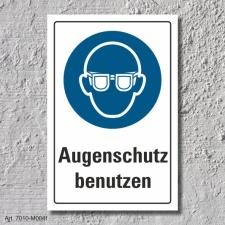 """Schild """"Augenschutz benutzen"""", DIN ISO 7010, 3..."""