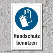 """Schild """"Handschutz benutzen"""", DIN ISO 7010, 3..."""