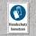 """Schild """"Handschutz benutzen"""", DIN ISO 7010, 3 mm Alu-Verbund"""