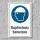 """Schild """"Kopfschutz benutzen"""", DIN ISO 7010, 3 mm Alu-Verbund"""