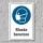 """Schild """"Mundschutz benutzen"""", DIN ISO 7010, 3 mm Alu-Verbund"""