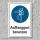 """Schild """"Auffanggurt benutzen"""", DIN ISO 7010, 3 mm Alu-Verbund"""